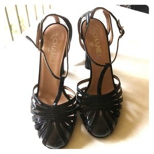 Shoes - *PRE LOVED* Chanel Spiral Architectural Peep Toe